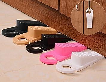 Ordinaire Decorative Rubber Door Stopper 5 Pack, Door Stop Works On All Floor  Surfaces,Non