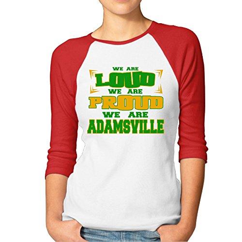 CHEDUCEA We Are Loud Proud Adamsville Elementary School Women 3/4 Sleeve T-shirt Red