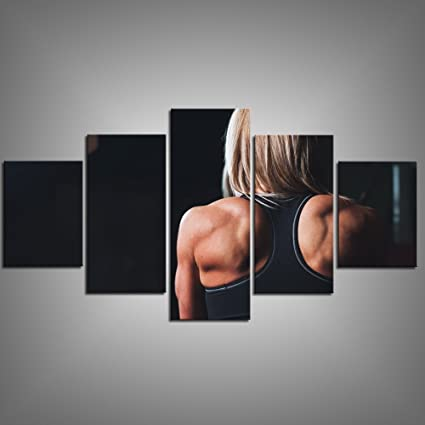 Amazon com: Canvas Art Print a Back View of Muscle Girl Art