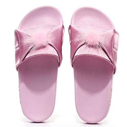 Libre Fondo Color EU37 De CN37 5 xy Plano Al Femenino Aire Playa De Pink Pink Tamaño Moda De Verano Zapatillas De 5 Zapatos UK4 Sandalias wfxxqpa4Y6