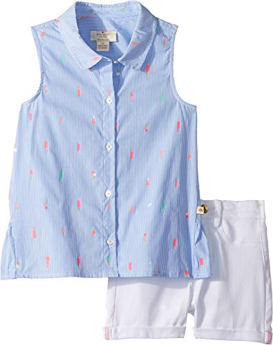 - Kate Spade New York Kids Baby Girl's Mini Ice Pops Shorts Set (Toddler/Little Kids) Blue Bonnet/Fresh White 2T Toddler
