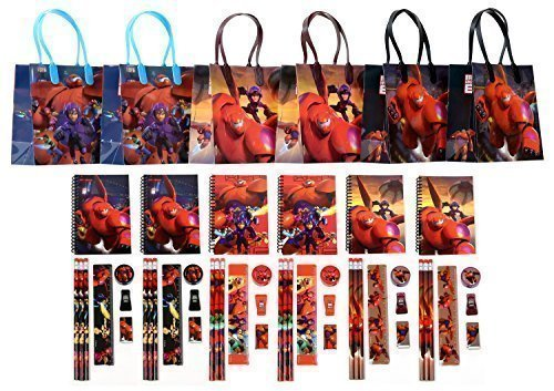 Disney Big Hero 6 Party Favor Stationery Set - 6 Packs (54 Pcs)