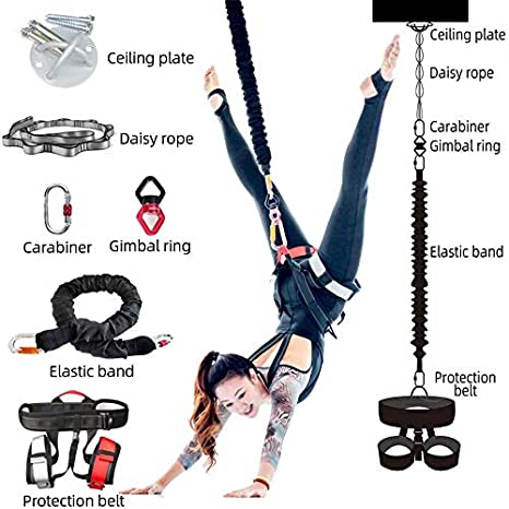 Yoga Inversion Swing, Bungee Cuerda, Flying Bandolera De Hamacas ...