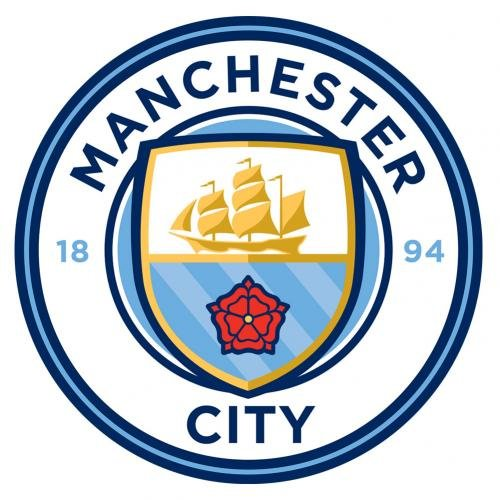 Manchester City F.c. Large Crest Sticker by Manchester City F.C.