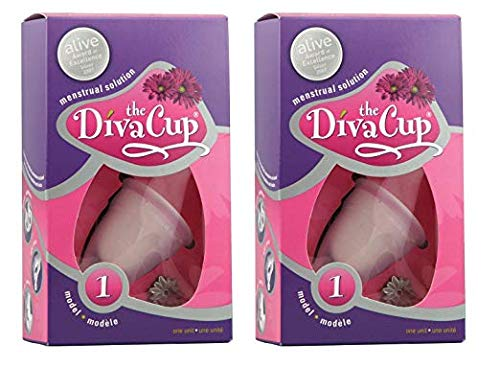 Cup Menstrual Diva (Diva Cup Model 1 Pre-Childbirth Cups, 2 Count)