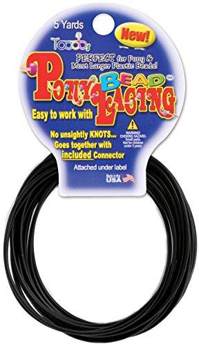 Pepperell Pony Bead Lacing, 2mm, Black ()