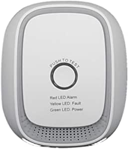 Owon Gas Leakage Detector High Sensitivity, LPG, LNG, Coal, Natural Gas Leak Detection, Alarm Monitor Sensor Home, Low Battery Consumption, Easy Installation - ZigBee Hub with iOS & Android - White