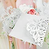 Kangkang@ 20 PCS White Hollow Design Decorative Wedding Birthday Festival Party Invitation Card Design Packaging Accessories