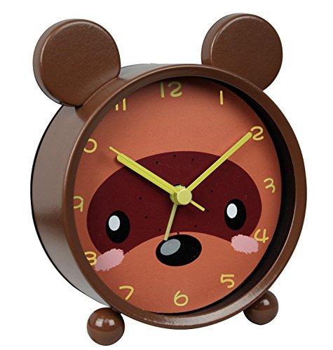 Time Vanguard Alarm Clock for Children (Bear) (Steel Timepiece)