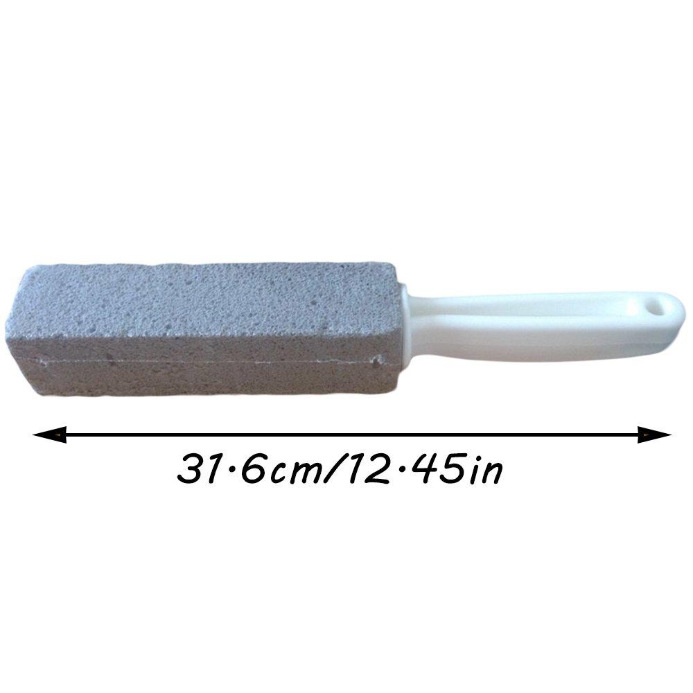 Ieasycan para inodoro piscina bañera fregadero de limpieza cepillo de piedra natural piedra pómez cepillo con mango largo: Amazon.es: Hogar