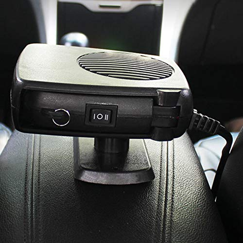 Black Car Heater Windshield Defroster Car Electric Heater Wind Car Heater Warmer Hot Air Heater Car Accessories: DIY & Tools