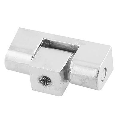 Aleación de plata tono estufa horno bisagra de puerta 1,7 cm de largo