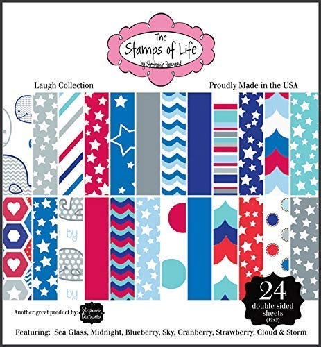 The Stamps of Life Laugh Collection Patterned Paper Pad for Card-Making and Scrapbooking by Stephanie Barnard