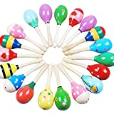 Kasstino Kids Gift Cute Sand Hammer Rattle Musical Instrument Percussion Wooden Ball Toy