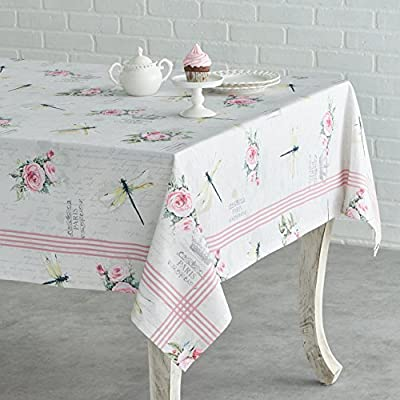 Maison d' Hermine Champ De Mars 100% Cotton Tablecloth for Kitchen Dinning Tabletop Decoration Parties Weddings Spring Summer (Square, 54 Inch by 54 Inch). -  - tablecloths, kitchen-dining-room-table-linens, kitchen-dining-room - 51v34EnId8L. SS400  -