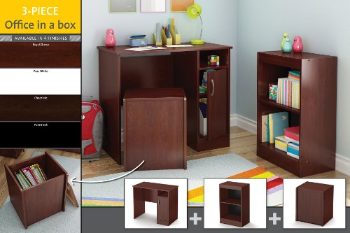 office in a box furniture. amazoncom south shore 3piece axess office in a box furniture pure black kitchen u0026 dining