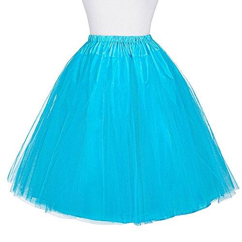 Vestido Sky Mujer Miriñaque Retro de Tul Belle Blue para Vintage 6 Poque® Enaguas Tutú Falda Cancán bp56 SxEOnx0f7