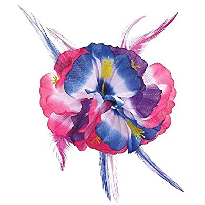 Amscan Hibiscus Flower Party Hair Clip: Kitchen & Dining