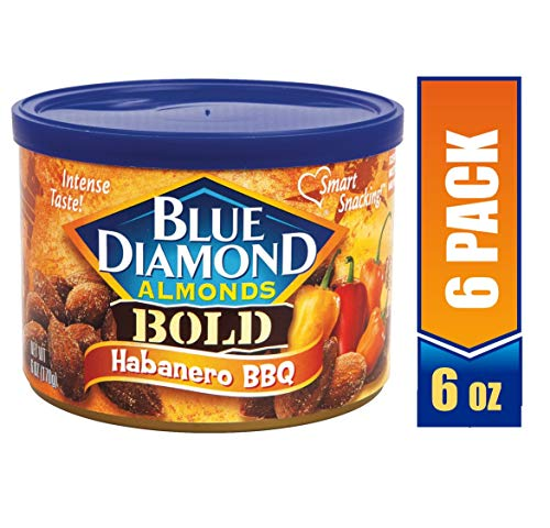 Blue Diamond Almonds, Bold Habanero BBQ, 6 ounce (Pack of ()