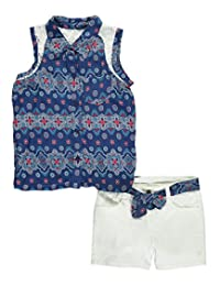 """Penny M Big Girls' """"Pretty Paisley"""" 2-Piece Outfit"""