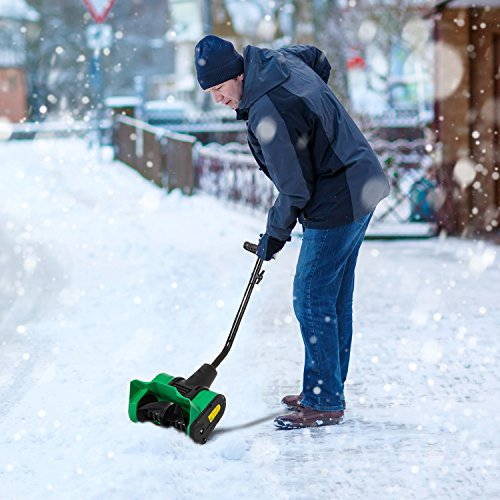 New MTN-G 12 inch 9 Amp Electric Powered Snow Thrower Yard Power Shovel w/ Wheels by MTN Gearsmith