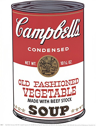 (Campbell's Soup (ICA) by Andy Warhol Art Print, 11 x 14 inches)