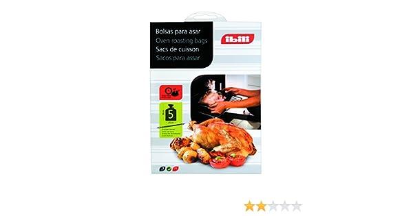 Ibili 753700-5 Bolsas Para Asar 25X38 Cm: Amazon.es: Salud y ...