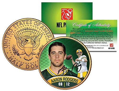 AARON RODGERS GREEN BAY PACKERS JOHN F. KENNEDY HALF DOLL...