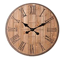 Clock Wooden Timer Suitable for Living Room Bedroom Diameter 60cm