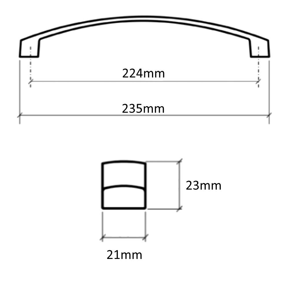 AERZETIX 4X poign/ée de tiroir Placard Porte Meuble Armoire Garaet chrom/é 224mm C41457