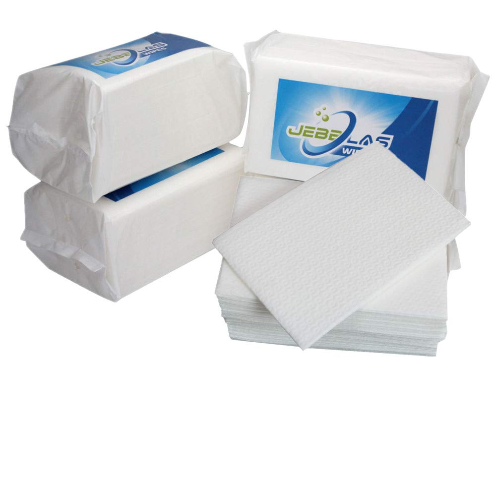 Jebblas Disposable Hand Napkins Linen Feel Guest Towels Cloth Like Square Hand Wipes Big Size Bathroom Wipes Elegant and Thick for Party, Wedding, Gathering, White, 4 Pack