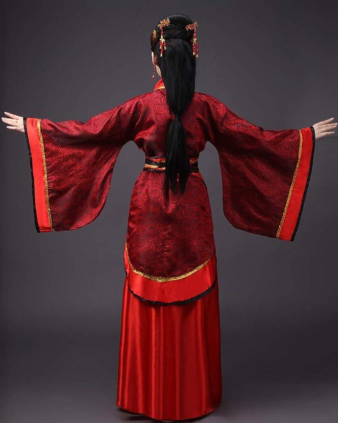XFentech Mujer Disfraz de Actuaciones Hanfu Tradicional Traje de Novia Chino  Antiguo Traje Tang Nacional Ropa de Cosplay  Amazon.es  Ropa y accesorios 2ef18126ef9f