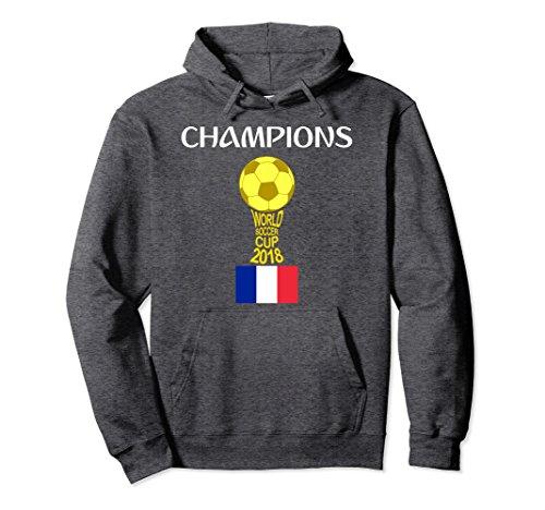 World Winners Cup (Unisex France Soccer Team World Champions Futbol Cup 2018 Hoodie XL Dark Heather)