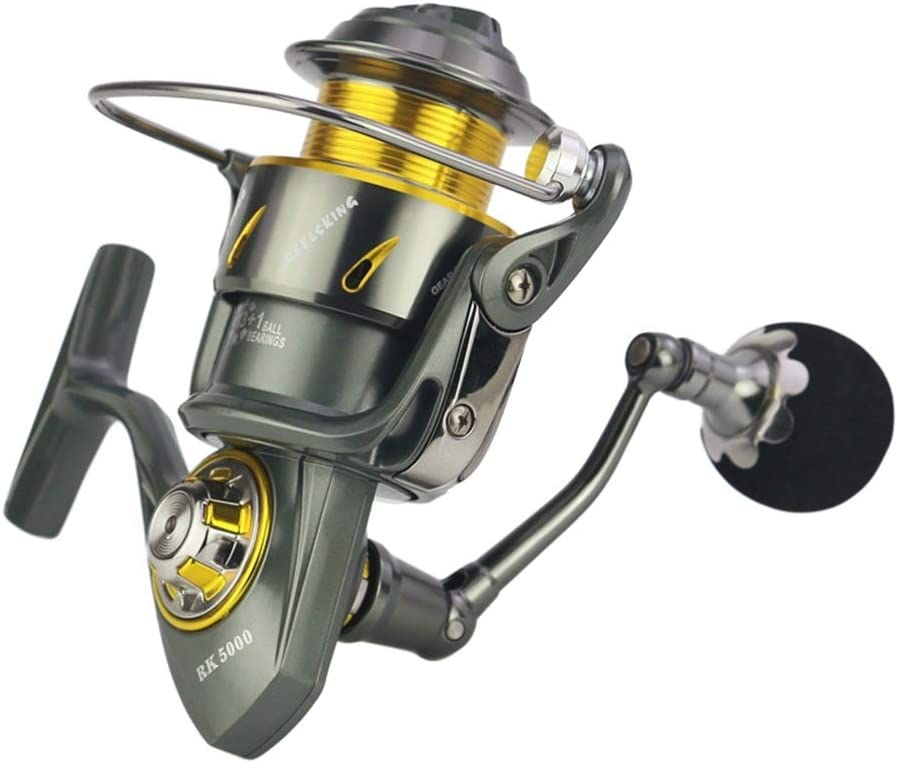フライリール フルメタル釣りリール釣りリール釣りギアブレーキ海水耐性のカーボンクロス (Size : RK9000)  RK9000