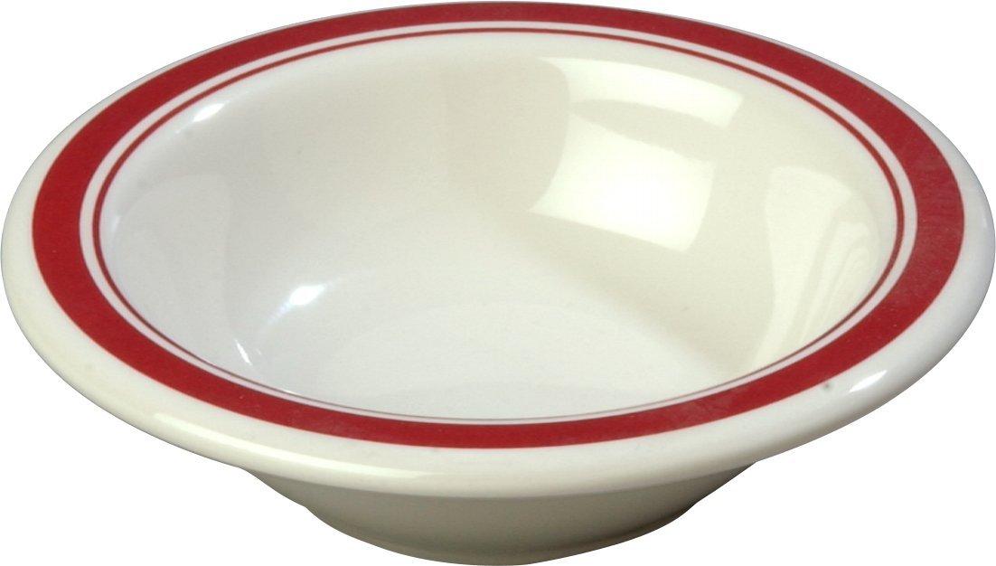 Carlisle 43043907 Durus Rimmed Melamine Fruit Bowl, 4.75'', Roma on Bone (Pack of 48)