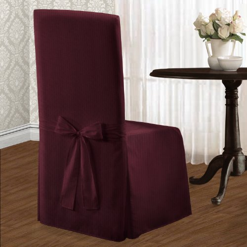 United Curtain Metro Dining Room Chair Cover, 19 by 18 by 39-Inch, Burgundy -