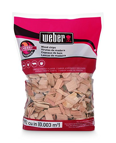 Cherry Real Wood - Weber Cubic Meter Stephen Products 17140 Cherry Wood Chips, 192 cu. in. (0.003 cub, 2 lb