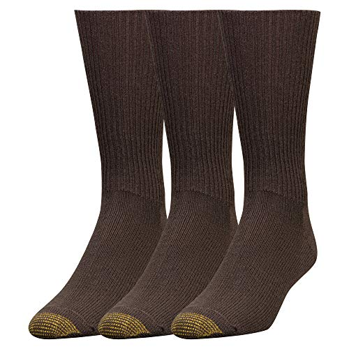 - Gold Toe Men's Fluffies Casual Sock, 3-Pack, Brown, Shoe Size 6-12.5