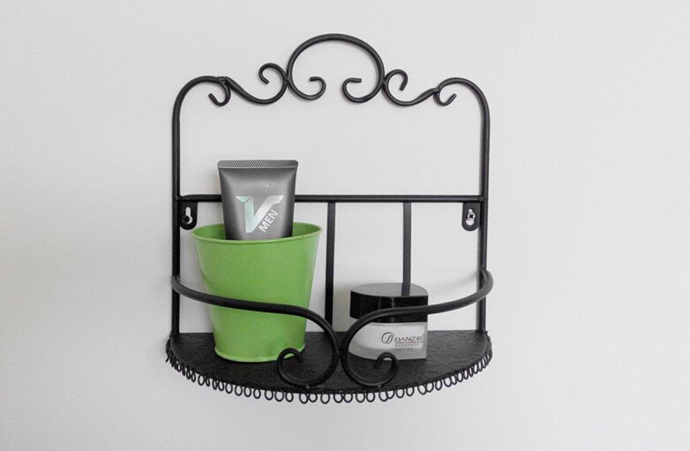 Amazon.com: Garden Style Wrought Iron Bathroom Shelves Storage Rack  Wall Mounted Shelves: Appliances