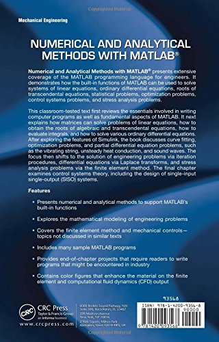 Numerical and Analytical Methods with MATLAB Applied and