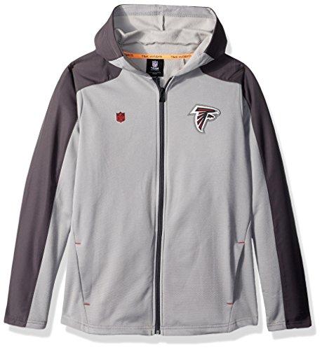 NFL Youth Boys Delta Full Zip Jacket-Magna Pique Heather-L(14-16), Atlanta ()