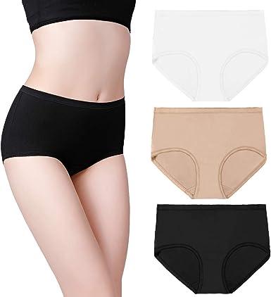 perfekte Passform 3er Pack schwarz NEU Slips Unterwäsche Damen Slip Unterhose