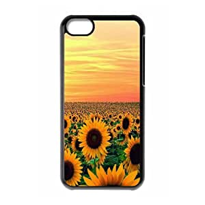 UNI-BEE PHONE CASE For Iphone 5c -Sunflower And Sun-CASE-STYLE 17