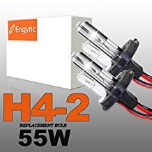 Engync® 55W HID H4 (HB2) (9003) Low Light Halogen Hight Light Xenon Replacement Bulbs 8000K White light with a blue tinge Color| 3 Years Warranty