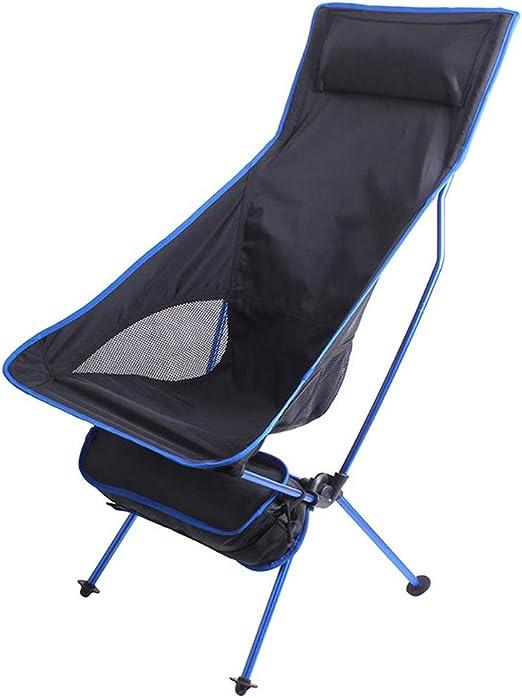Respaldo Alto Silla de Camping Silla de jardín reclinable Tumbonas Sillas reclinables Plegable Portátil Oxford Tela Sillón Cojinete Peso 100 KG: Amazon.es: Hogar