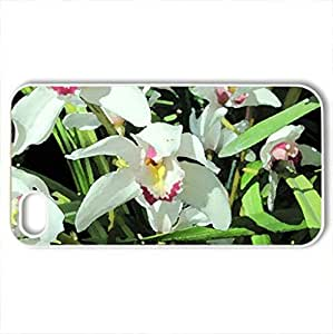 Essence of Flowers 45 Orchids - Case Cover for iPhone 4 and 4s (Flowers Series, Watercolor style, White) by lolosakes