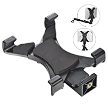Universal Tablet Tripod Mount Adapter Selfie Stick for iPad, Samsung Tab and Other Tablets, Phablets Monopod or Smart Phones Easy Adjustable Width (12-20cm)