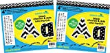 Barker Creek 4'' Letter Pop-Outs 2 pack - Black Chevron & Dots (BC3643)