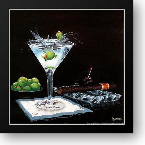 - Olive Party II 16x16 Framed Art Print by Godard, Michael