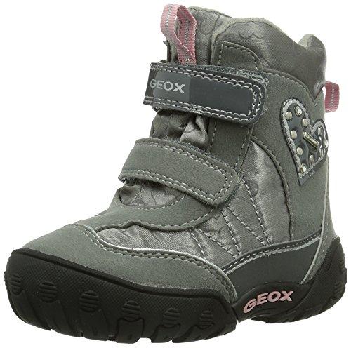 Geox B Gulp B Girl Abx - Calzado de primeros pasos Bebé-Niñas Dark Grey c9002